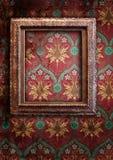 Gold frames, retro wallpaper Stock Photos