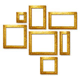 Gold frames Royalty Free Stock Image