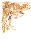 Gold framework Stock Images