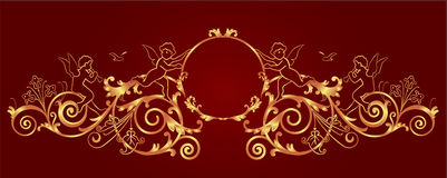 Gold framework Stock Image