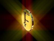 Gold franc symbol Royalty Free Stock Photography