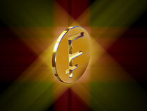 Gold franc symbol. Image symbol in the form of the franc coins Royalty Free Stock Photos