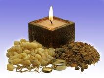 Gold, frankinsence and myrrh Royalty Free Stock Photos