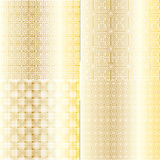 Gold Fretwork Patterns Stock Images