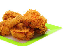 Gold fried chicken Stock Image