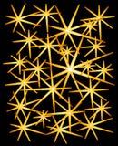 Gold funkelt Sterne auf Schwarzem stock abbildung