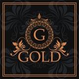 Gold G element identity flourishes template. Vector illustration vector illustration