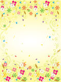 Gold garden card Stock Image