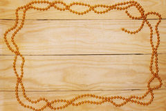 Gold garland Royalty Free Stock Images