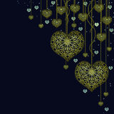 Gold garland Royalty Free Stock Photography