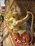 Gold garuda line Royalty Free Stock Photography