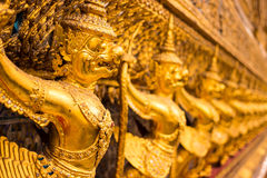 Gold garuda from wat phra kaew Stock Photography