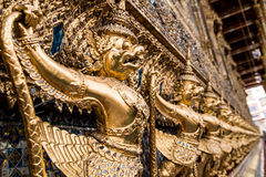 Gold Garuda. In Wat Pra Kaew , Bangkok , Thailand Stock Images