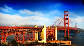 Gold gate bridge Stock Images