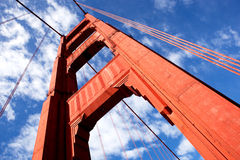 Gold Gate Bridge Detail Royalty Free Stock Image