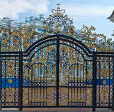 Gold gate, entrance to Catherine's Palace, St. Petersburg Royalty Free Stock Photos