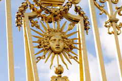 Gold gate - Palace of Versailles Royalty Free Stock Photos
