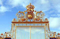 Gold gate - Palace of Versailles Royalty Free Stock Photography