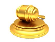 Gold gavel Stock Photo