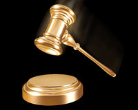 Gold gavel Royalty Free Stock Images