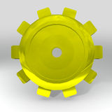 Gold gear Royalty Free Stock Images