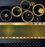 Gold gear background Royalty Free Stock Images