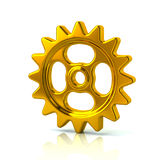 Gold gear wheel icon Royalty Free Stock Images