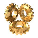 Gold Gears Stock Photos