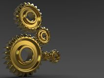 Gold Gears Royalty Free Stock Photography