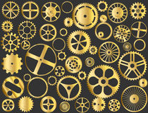 Gold gears royalty free illustration