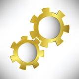 Gold gears Lizenzfreies Stockbild