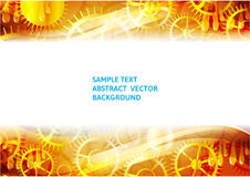 Gold gears abstract technology vector background with copy-space Stock Image