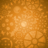 Gold Gears Background Royalty Free Stock Photo