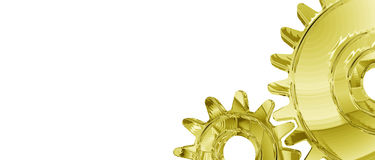 Gold Gears Background Stock Photography