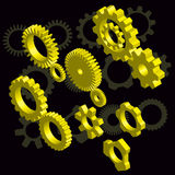 Gold gears  design elements Stock Photography