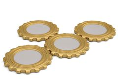 Gold gears on white background. 3D illustration. Gold gears on white background. 3D illustration royalty free illustration