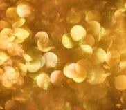 Gold- gelbes abstraktes buntes defocused Kreis-bokeh, abstrakt Stockfotos