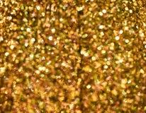 Gold- gelbes abstraktes buntes defocused Kreis-bokeh, abstrakt Lizenzfreies Stockfoto