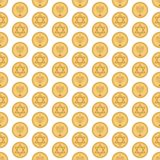 Hanukkah Gelt Seamless Pattern stock illustration