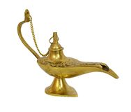 Gold genie lamp Royalty Free Stock Photos