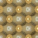 Gold geometric greek seamless pattern. Sunny background. Gold geometric seamless pattern. Modern abstract vector background wallpaper illustration with 3d vector illustration