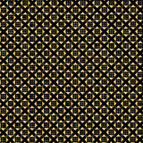 Gold geometric pattern. With golden small cage on black background. Vector file with layers. Digital illustration for greeting card, album, fashion, textile and stock illustration