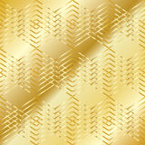 Gold geometric pattern Royalty Free Stock Photos