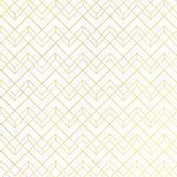 Gold geometric pattern with lines on white blue background art deco style royalty free illustration