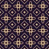 Gold geometric seamless pattern Stock Images