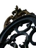 Gold gespitzte Oberseite eines Zauns stockfotografie