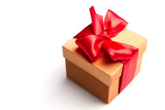 Gold gift Royalty Free Stock Images
