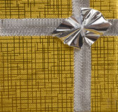 Gold gift as background Royalty Free Stock Images