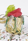 Gold Gift Bag Stock Photo