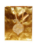 Gold Gift Bag Royalty Free Stock Photos